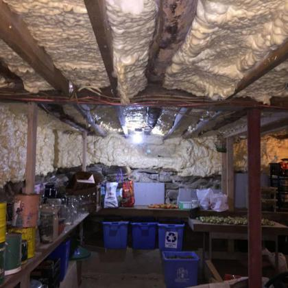 Disconnecting my basement from our heated space cut our heating bills in half.